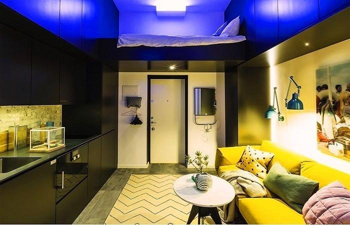 Обстановка квартиры площадью всего 16 кв. м