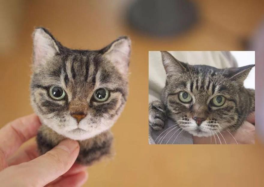 3D-портреты кошек из шерсти