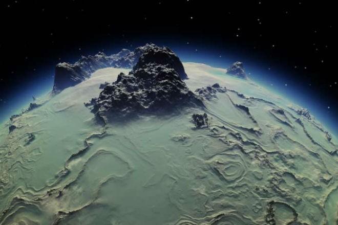 Самая высокая скала в Солнечной системе