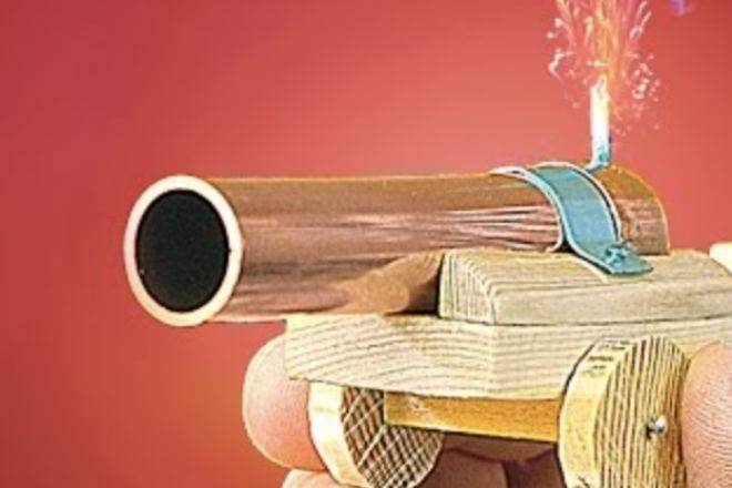 Как сделать настоящую пушку в домашних условиях