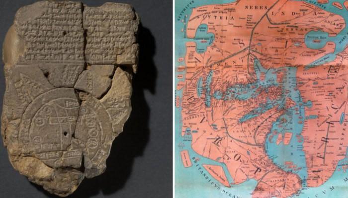 Старинные географические карты