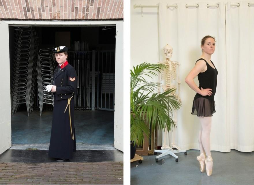 Девушки ВМФ Нидерландов на службе и дома