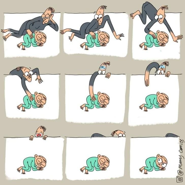 Мама рисует будни родителей так, что хочется завести себе ребенка. Лет через 10