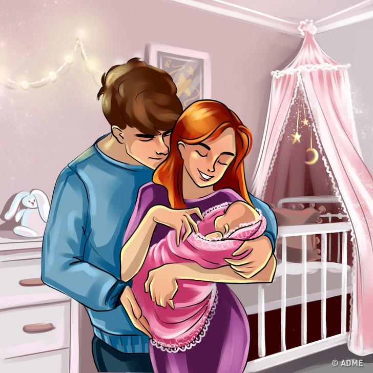 14 иллюстраций о том, как непросто живется беременной женщине (И тем, кто рядом)
