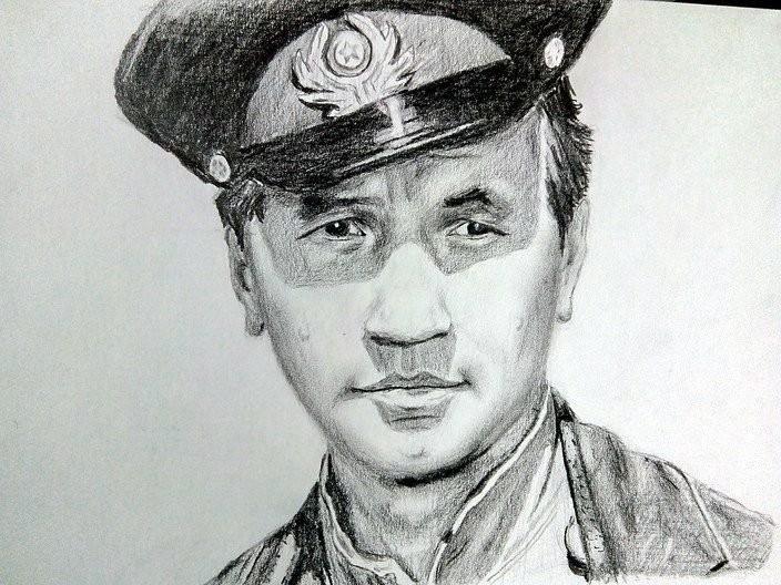 Советские актеры простым карандашом