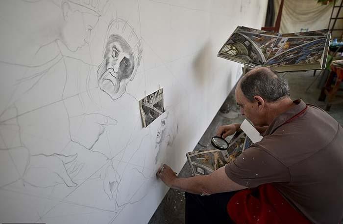 Мексиканский пенсионер воссоздал Сикстинскую капеллу