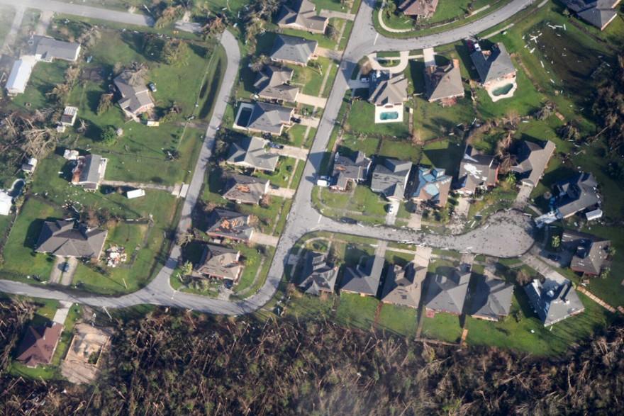 Разрушительные последствия урагана Майкл