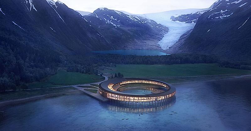 Скандинавский отель на солнечных батареях в арктическом климате
