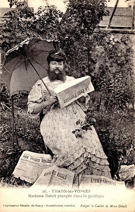 Француженка, которая на спор отрастила бороду и стала известной на всю Европу