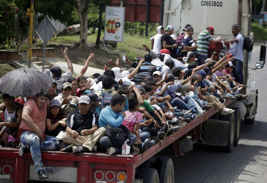Караван мигрантов из Гондураса в США