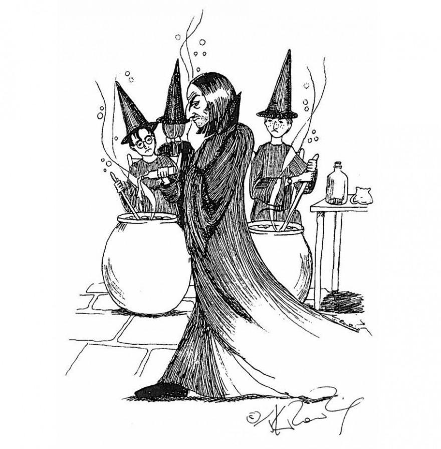 Иллюстрации самой Джоан Роулинг к книгам о Гарри Поттере