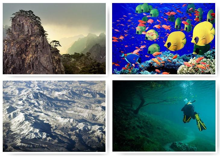 7 «цветных» географических объектов