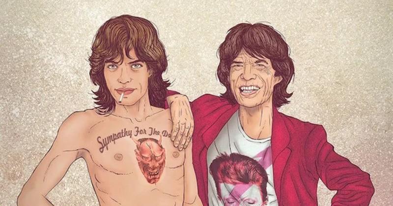 Молодые и постаревшие знаменитости