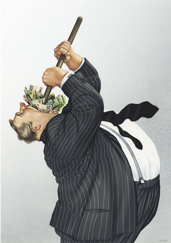 Современный мир в карикатурах Герхарда Хадерера
