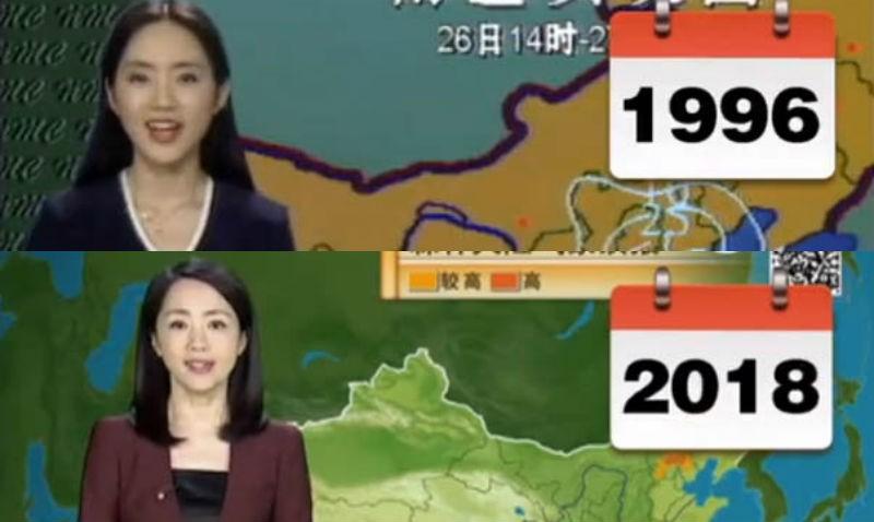 Китаянка 22 года ведет прогноз погоды и за это время совсем не изменилась