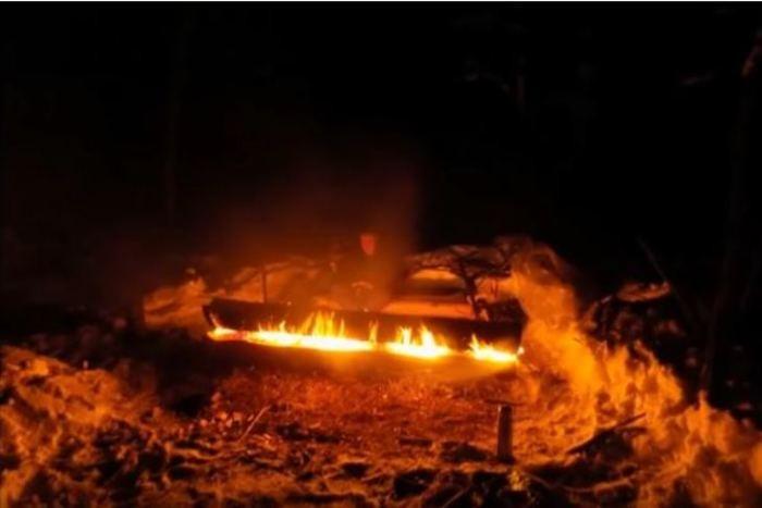Костер, который может гореть целую ночь