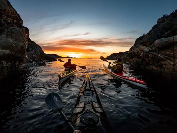 На каяке по фьордам и озерам Норвегии