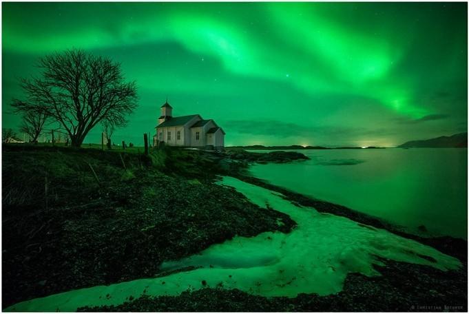 Потрясающее зрелище на Лофотенских островах
