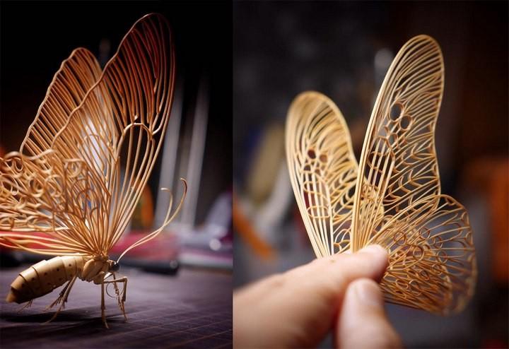 Фигурки насекомых из дерева