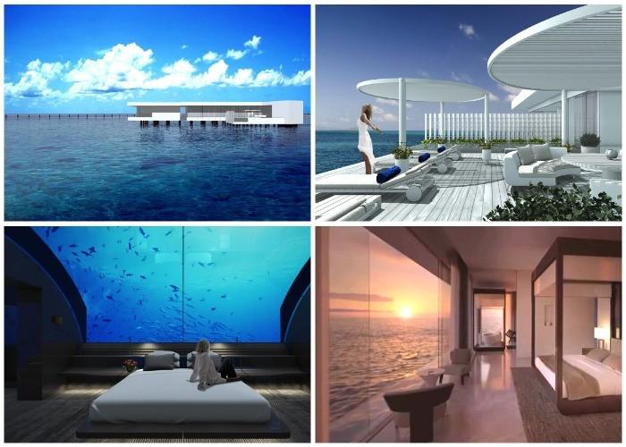 Первая в мире подводная вилла на Мальдивах