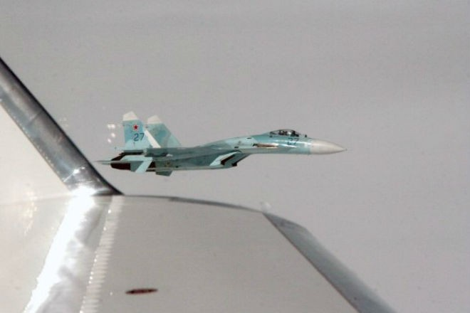 Перехват американского разведчика Су-27