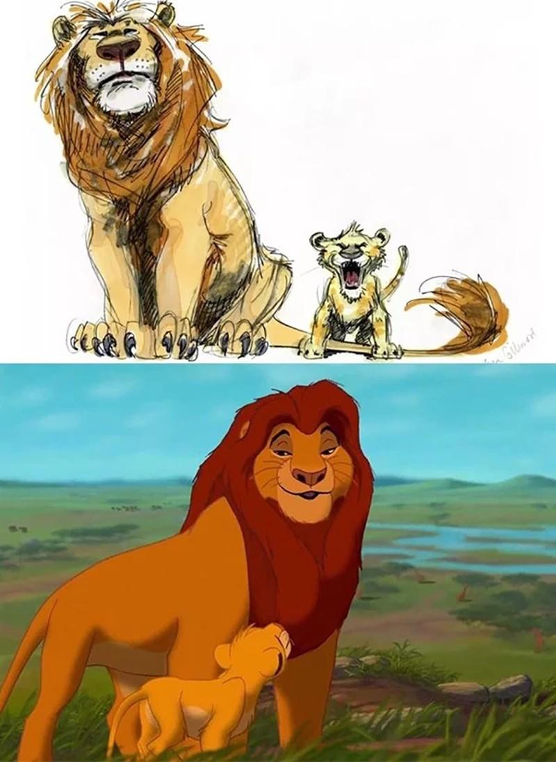 Зарисовки персонажей Disney