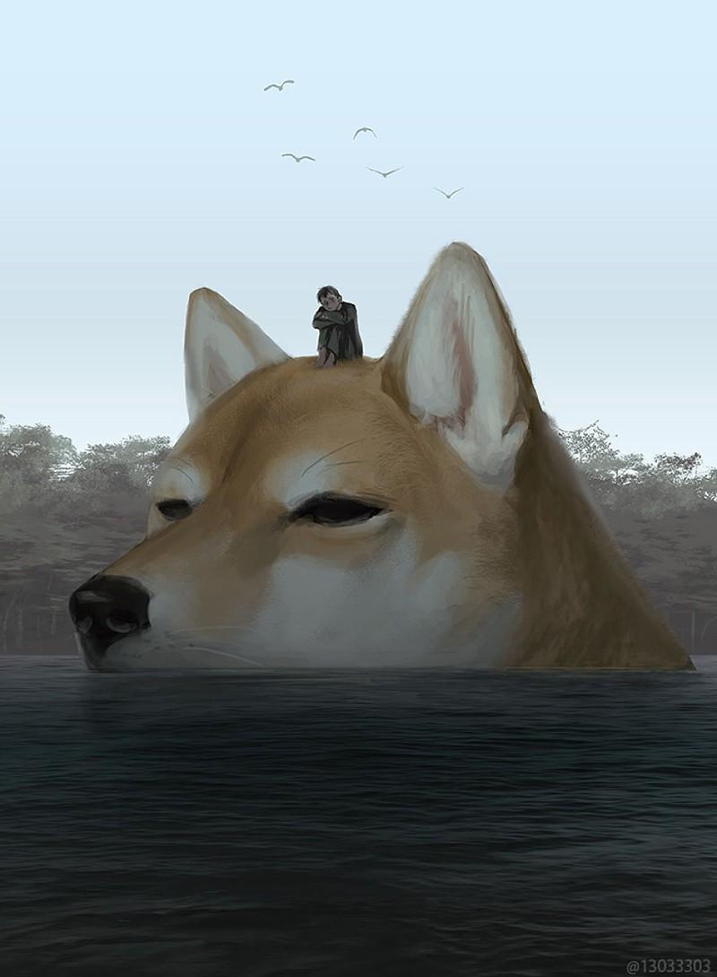 Мир гигантских животных глазами японского иллюстратора